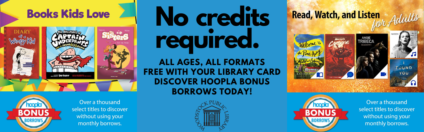 Hoopla Bonus Borrows. No credits required