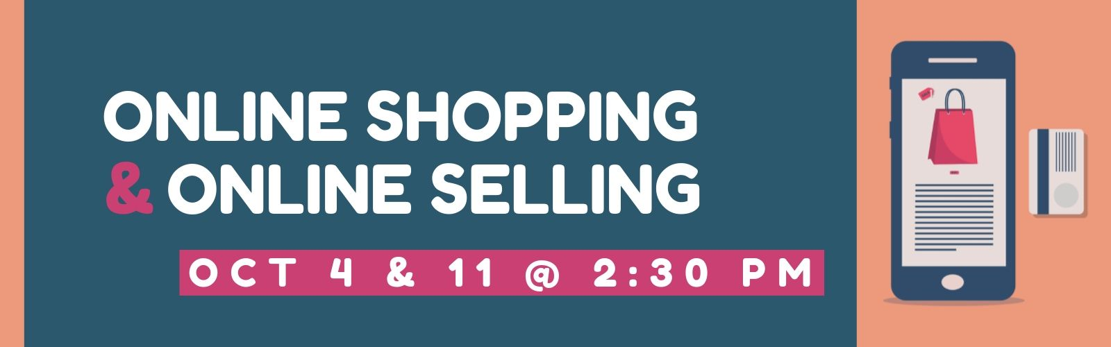 Online Shopping and Online Selling - October 4 and 11 at 2:30 pm